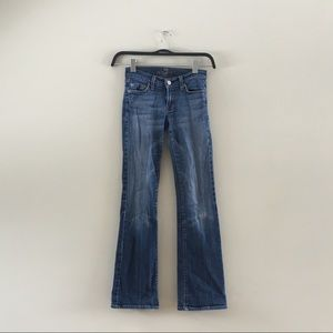7 for all mankind long bootcut jeans size 24
